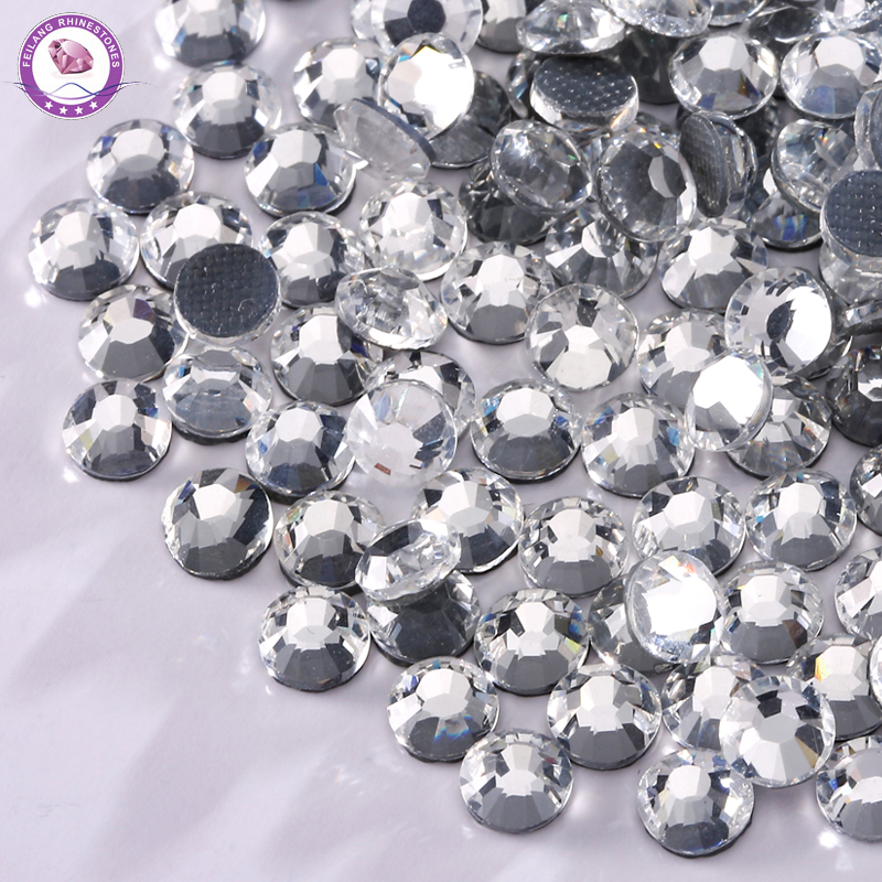 Small Crystal Rhinestones DMC Shiny Crystal AB Hotfix Flatback Rhinestone DIY Clothes Dress Design Sewn Glass 720Pcs Bag in Rhinestones from Home Garden