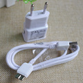 Travel Wall Charger Adapter+ Micro USB Data Sync Charging Charger Cable Cords for Samsuang Galaxy S5 Note3 i9800 N9000 Lace Wire