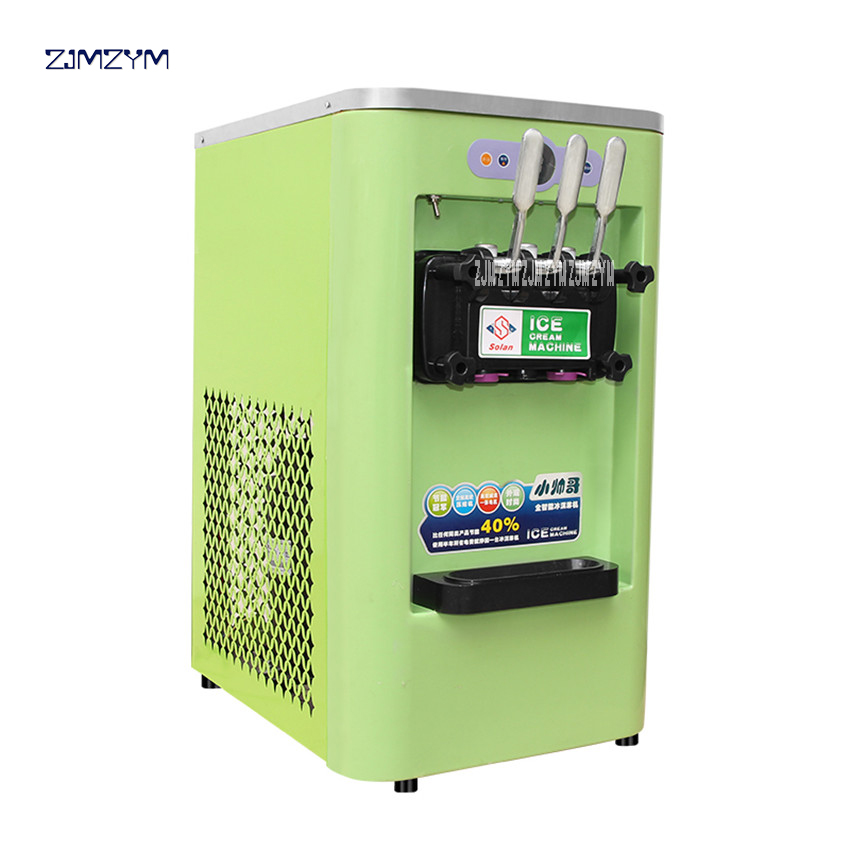 3 вкусов Мороженое maker коммерческих мягкого мороженое машина Йогурт мороженое красный/зеленый 13 16L/ч 800 Вт 220 В /50 Гц SL 168S