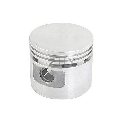 Silver Tone Aluminum Alloy 47mm Dia Engine Air Compressor Piston silver tone aluminum alloy air compressor connecting rod 12mm x 20mm x 69mm