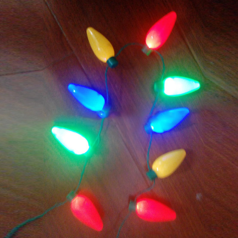 Party Bulb Necklaces For Adults Kids Festival Necklace LED Light Up Plastic Flashlight Luminous Christmas FP8