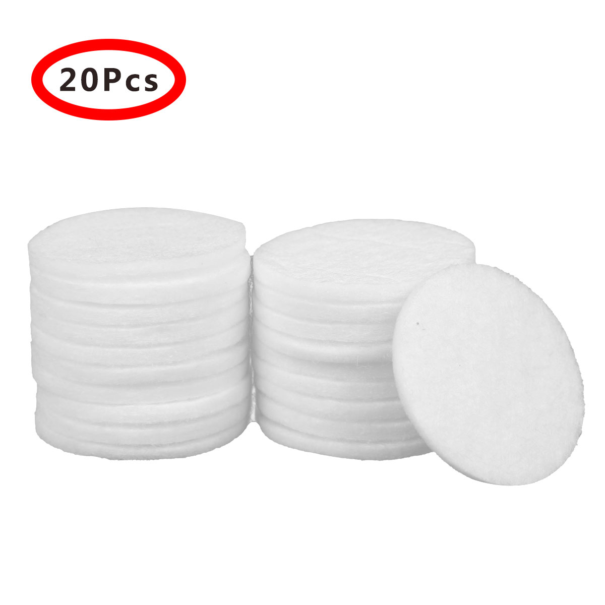 20Pcs Filter Cotton 42mm Safety PP Cottons Replacement for Kitchen Bath Faucet Taps Shower Strainers Paper Bathroom Accessories