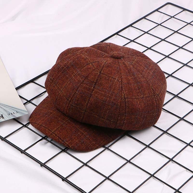 Newsboy-kappe Erfinderisch Frau Nette Newsboy Caps Gitter Achteckigen Baskenmütze Hut Newsboy Mädchen Einkaufen Hundert Kollokation Sport Kappe