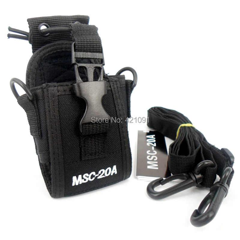 Bag Case voor Baofeng UV-5r BF-888s Motorola Kenwood Wouxun ICOM Yaesu Midland Uniden Cobra Walkie Talkie Walkie Talkie MSC-20A