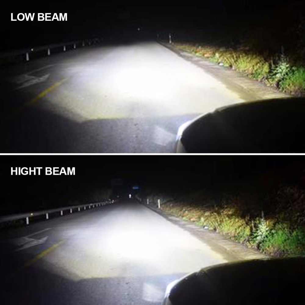 Foxcncar H4 LED H7 H11 H8 H9 HB4 H1 9005 9006 HB3 Auto LED Car Headlight Bulbs 72W 8000LM Car Styling 6500K 12V 8000K Automotivo