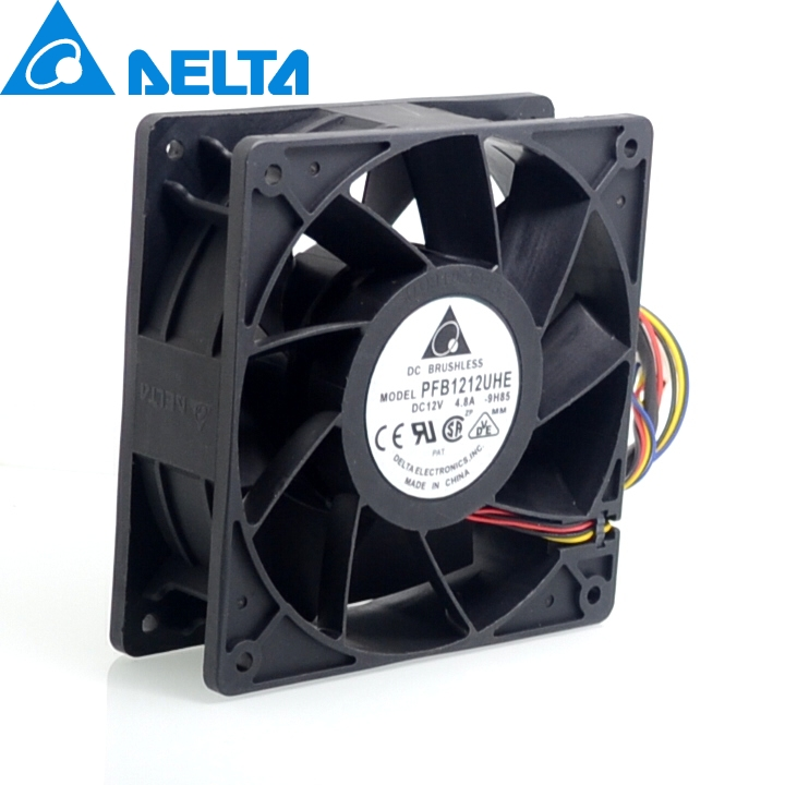 1pcs Original  120*120*38mm PFB1212UHE  12V 4.8A 12038 4 wire double ball crush-fan violence delta afb1212hhe 12038 12cm 120 120 38mm 4 line pwm intelligent temperature control 12v 0 7a