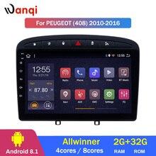 2G ram 32G rom 9 дюймов Android 8,1 автомобильный стерео для 2010- PEUGEOT 308 408 gps навигация