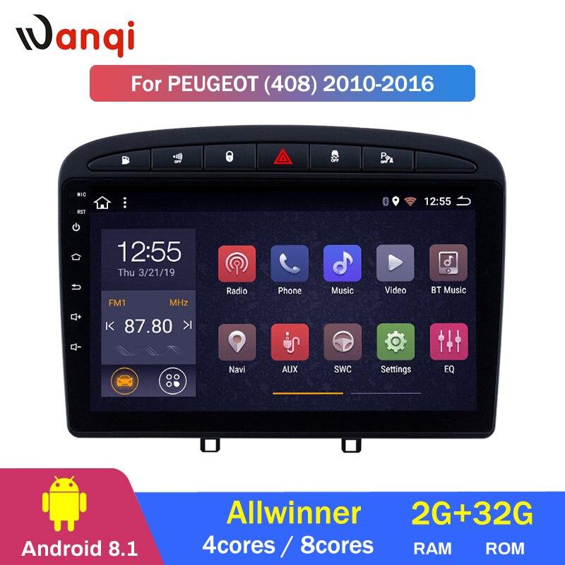 2G RAM 32G ROM 9 polegada Android 8.1 Stereo Car para 2010-2016 PEUGEOT 308 408 GPS navegação