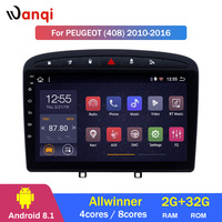 2G RAM 32G ROM 9 inch Android 8.1 Car Stereo for 2010 2016 PEUGEOT 308 408 GPS Navigation