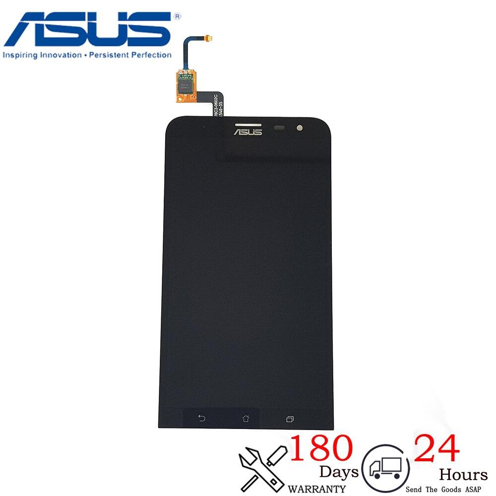 New 6 For Asus ZenFone 2 Laser ZE600KL LCD Display Matrix + Touch Screen Digitizer Full Assembly ZE600KL Glass Black Assembly