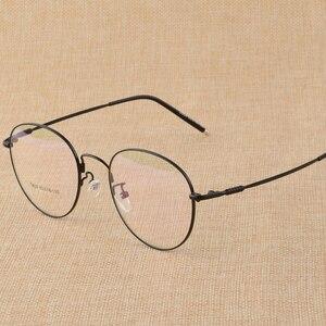 Image 2 - BCLEAR gafas planas con marco para miopía Unisex, anteojos con montura para miopía, de aleación de titanio, con personalidad Retro