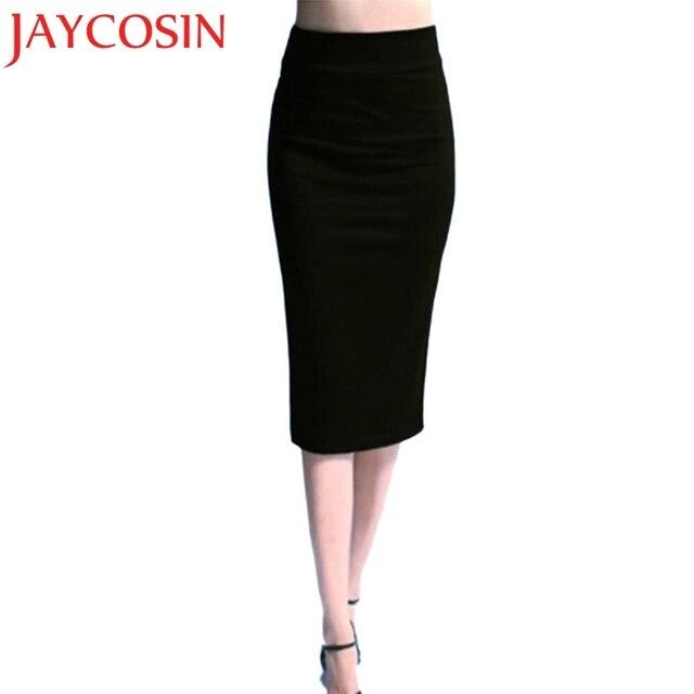 dd1571952d JAYCOSIN High Waist Pencil Skirts Bodycon Fashion Women Midi Skirt Red  Black Purple Slit Women's Skirt