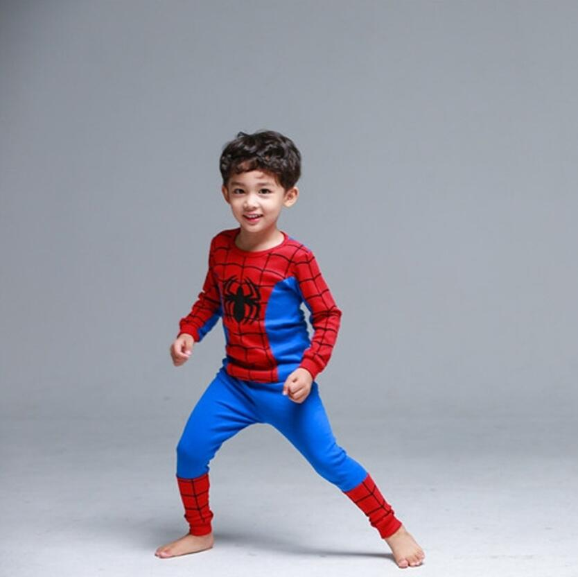 Boys spiderman   Pajamas     Sets   Kids   Pajamas   clothes Children Sleepwear Baby Boys Cotton Homewear Nightwear clothing   set   for 2-10T
