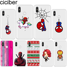 ciciber for Xiaomi MIX MAX 3 2 1 S Pro Marvel Spider-Man Soft TPU For Xiaomi A2 A1 8 6 5 X 5C 5S Plus Lite SE PocoPhone F1 Cases