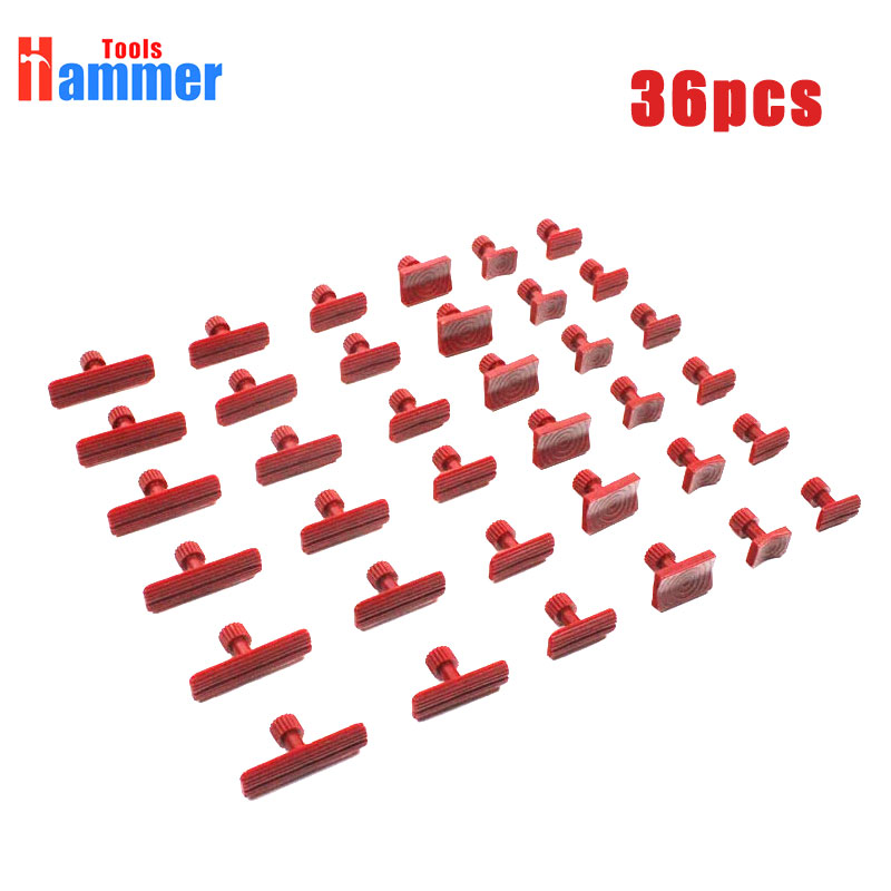 36pcs Puller Tabs Glue Pads for PDR KING car body paintless dent repair|Hand Tool Sets| |  - title=
