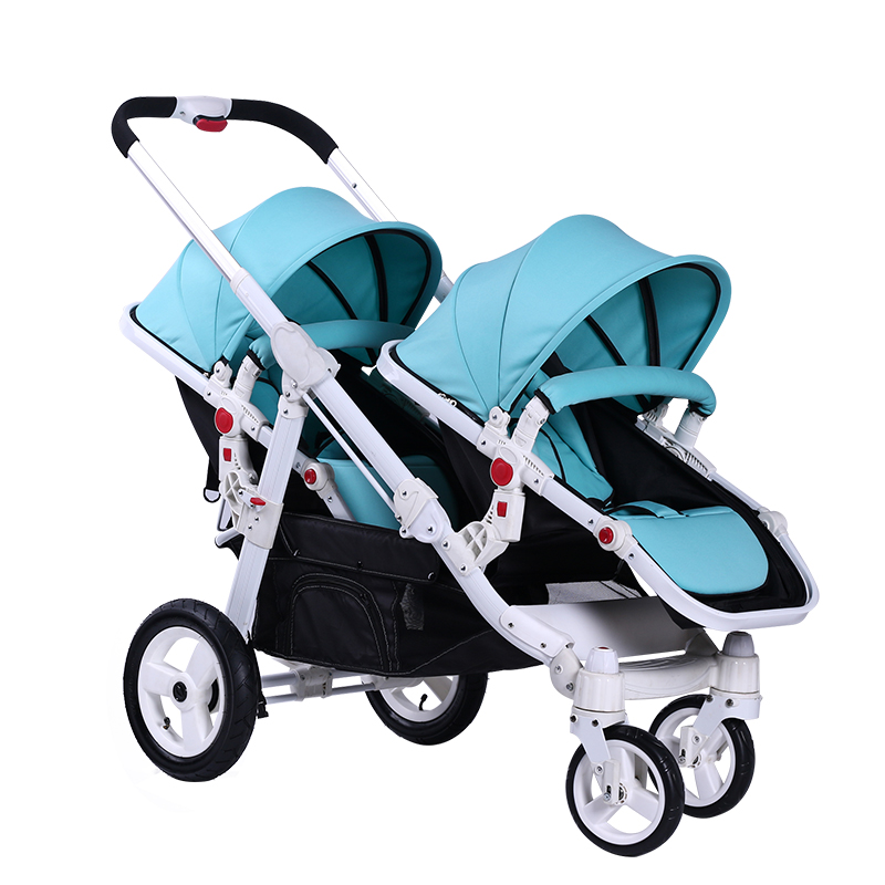 цена Motherknows baby twin stroller Tiffany green twins baby car