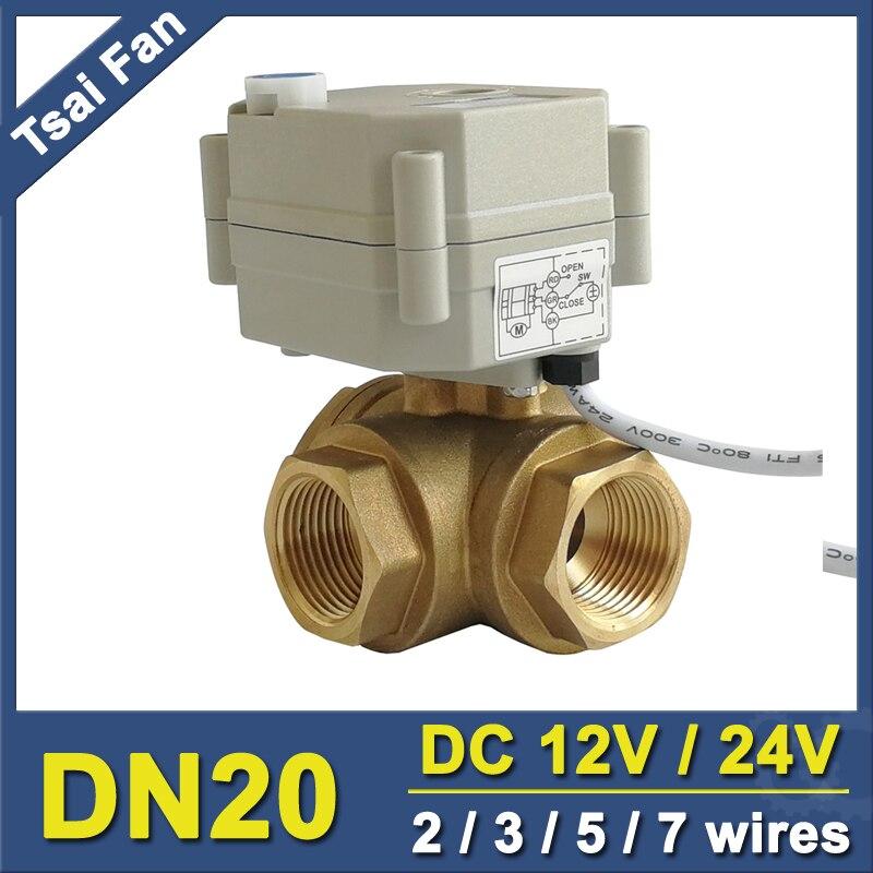 TF20 BH3 B DC12V or DC24V 2 3 5 7 Wires Brass 3 4 DN20 3