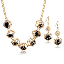 Szelam Gold Color African Jewelry Sets For Women Crystal Necklace Earrings Wedding Jewellery Set 2017 SET150001