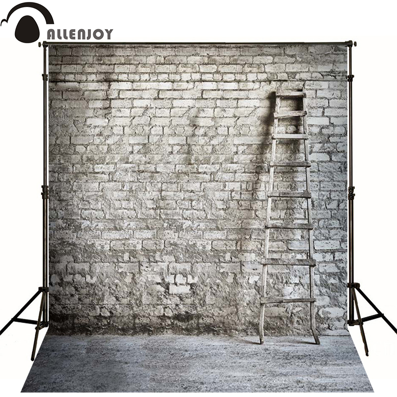Allenjoy Photographic background Rural old brick wall ladder newborn vinyl backdrops photography interesting wall floor