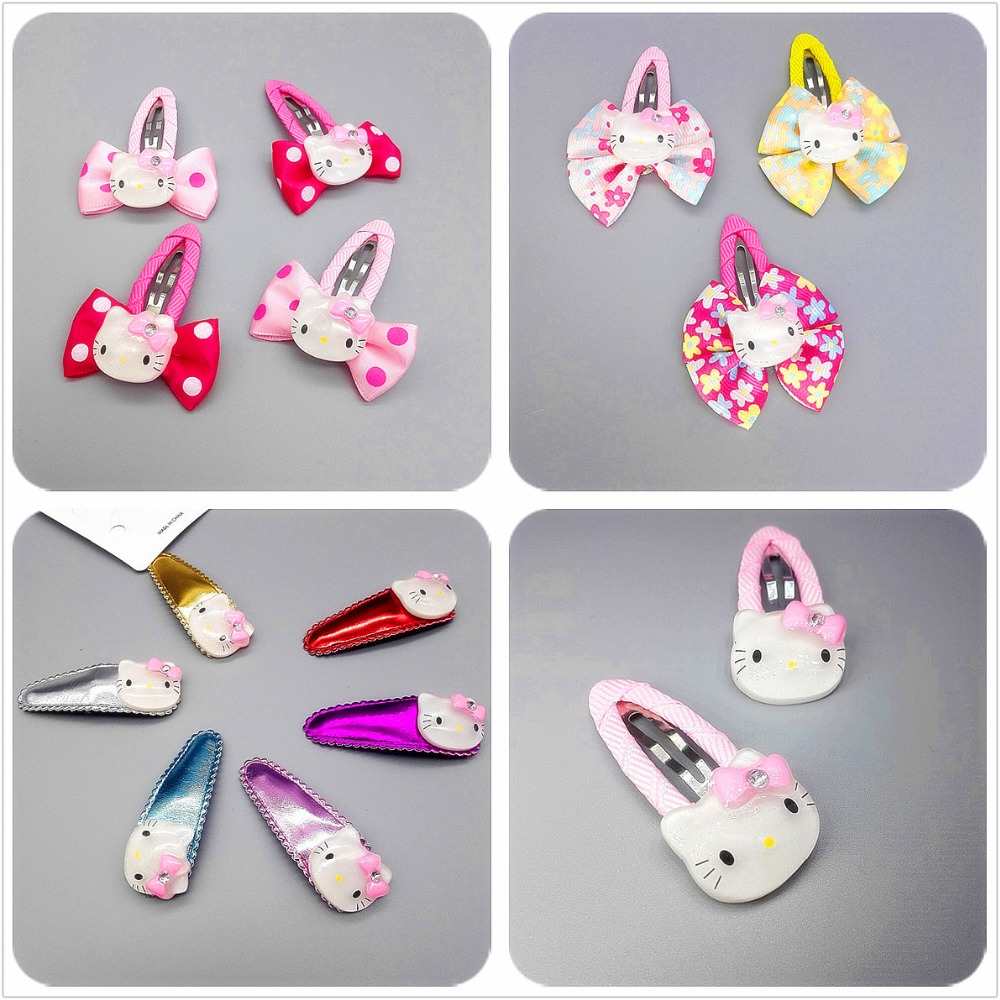 New Colorful assorted Baby Hair Clips Kitty Hairpins s