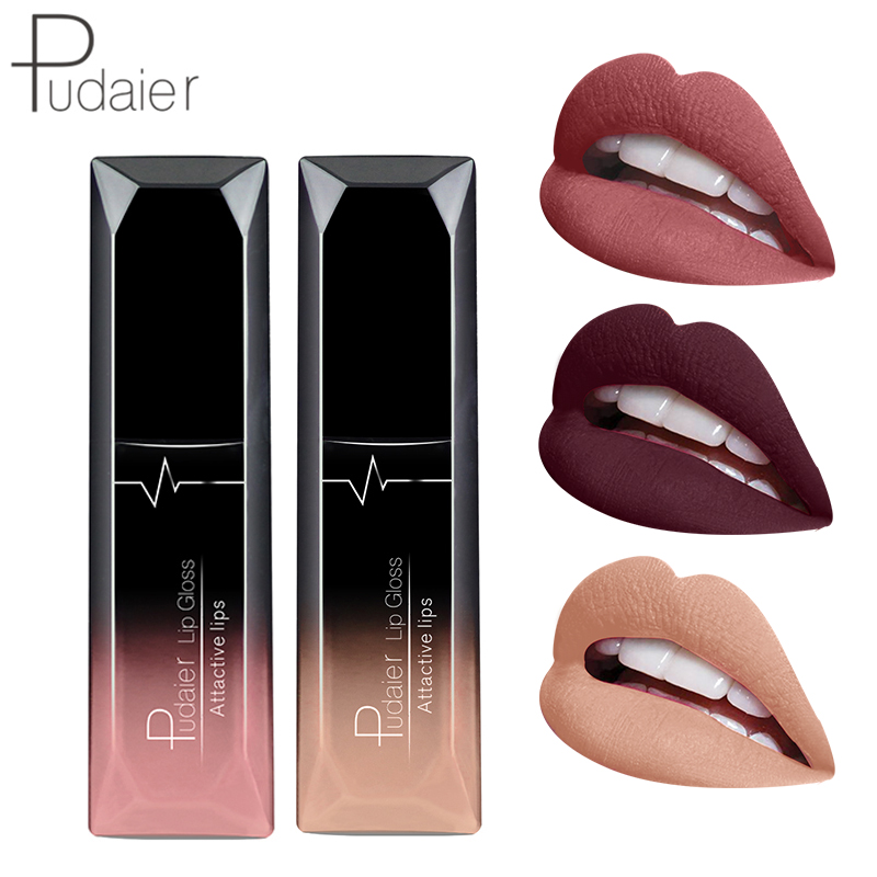 21 Color Brand Moisturizer Matte Liquid Lipstick Lip Gloss Waterproof Metal Color Makeup Lip Gloss Nude