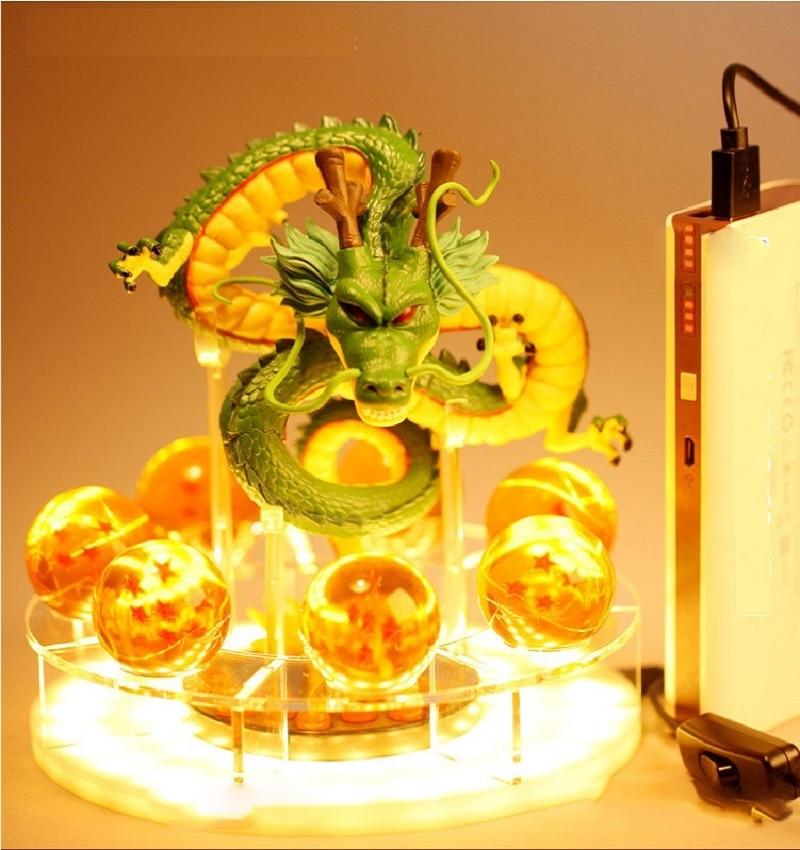 Dragon Ball Z Son Goku Spirit Bomb Table Lamp Luminaria LED Night Lights Room Table Lamps Home Decoration Diy Crystal Ball(China)