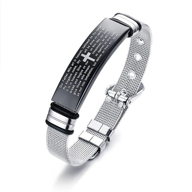 Man ID Bracelet Stainless...
