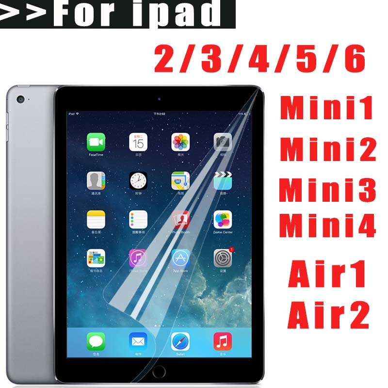 Nano Explosion Screen Protector For iPad 2 3 4 5 6 Not Tempered glass For IPAD Mini4 Soft film For iPad Mini 1 2 Mini3 Air 1 2