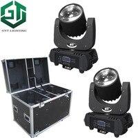 2 шт./лот упаковочный кофр DJ  светодиодный прожектор с движущейся головкой  60 Вт  RGBW  желтый  фиолетовый  6 видов цветов  сценическое освещение ...