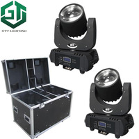 2pcs\/lot flightcase packing DJ Moving Head Light Led Beam 60W RGBW Yellow Purple 6 Colors Stage Lighting for Big Venue Party