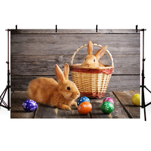 Mehofoto Peter Rabbit Backdrop Easter Eggs Photography Backdrops for Photo Booth Birthday Party Banner Props
