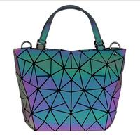 Geometric Purse Holographic Purse,Eco Artificial Leather Luminous Purses and Handbags Match Wallet 6 Different Style