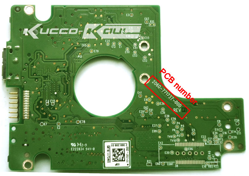 HDD PCB Logic Board 2060-771737-000 REV A/P1 For WD 2.5 USB Hard Drive Repair Data Recovery