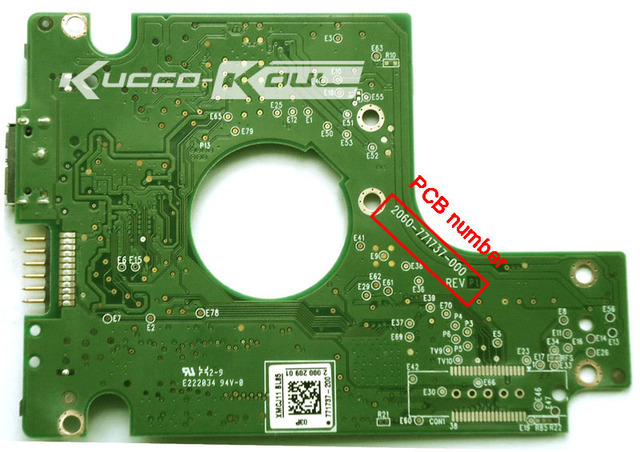 HDD PCB logic board 2060-771737-000 REV P1 for WD 2.5 USB hard drive repair data recovery