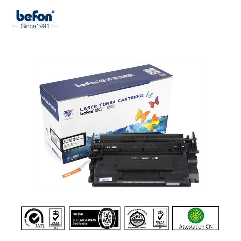 befon CF287A cf287 287A 287 87A Toner Cartridges Compatible for HP LaserJet Enteprise M506n M506dn M505x MFP M527f M527dn M501 2x non oem toner cartridges compatible for oki b401 b401dn mb441 mb451 44992402 44992401 2500pages free shipping