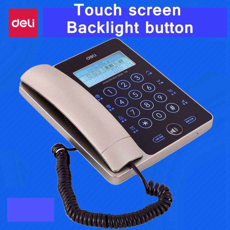 [ReadStar]Deli 778 Touch screen corded telephone home office backlight screen button caller ID temprature date time display 2 receivers 60 buzzers wireless restaurant buzzer caller table call calling button waiter pager system