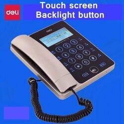 [Readstar] Deli 778 сенсорный экран проводные телефонные домашнего офиса подсветка экрана и пуговицы Идентификатор вызывающего абонента temprature ото...
