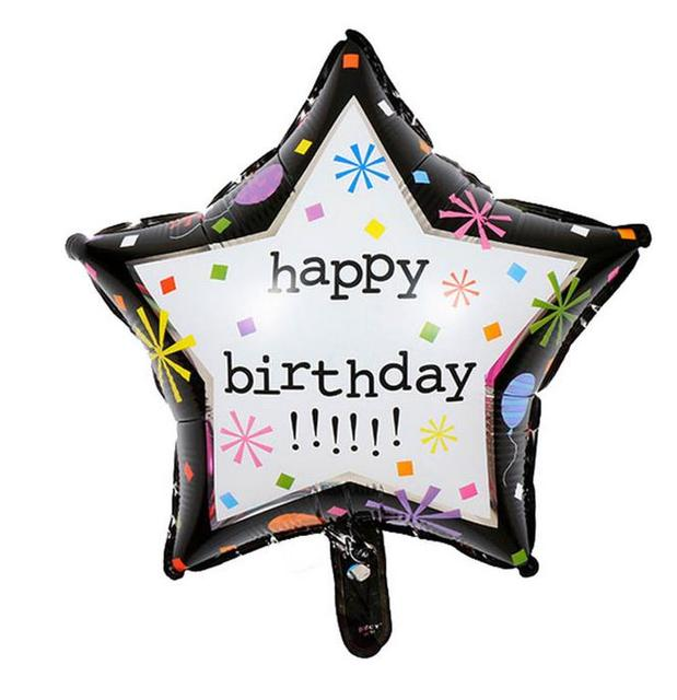 New Arrival 4545cm 10pcs Star Shape Happy Birthday Balloons Party Decoration Helium Inflatable Toys Foil Balloon