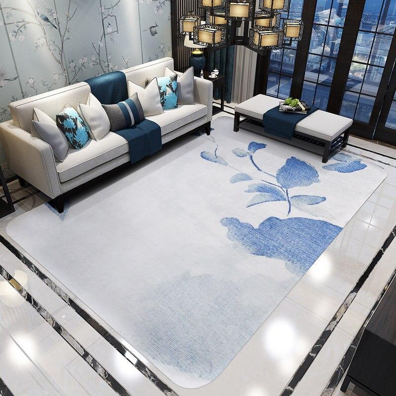 Encre fleur tapis pour salon décor à la maison chambre tapis canapé Table basse tapis mode Style tapis de sol Rectangle tapis