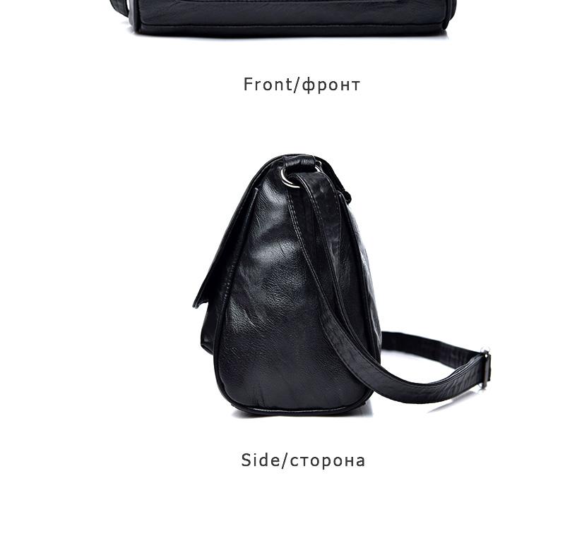 18 Women Messenger Bags Crossbody Soft Leather Shoulder Female Bag Flap Bolsa Feminina Designer Handbags High Quality Brand 17
