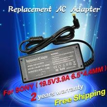 19.5V 3.9A 6.5*4.4MM Replacement For SONY Vaio SVE15115FXS VGP-AC19V19 VGP-AC19V