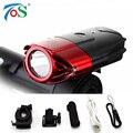USB Recargable Luz de La Bicicleta Incluye Batería de Litio de Luz Delantera de la Bici LED Luz Principal Impermeable linterna Luz de La Bici