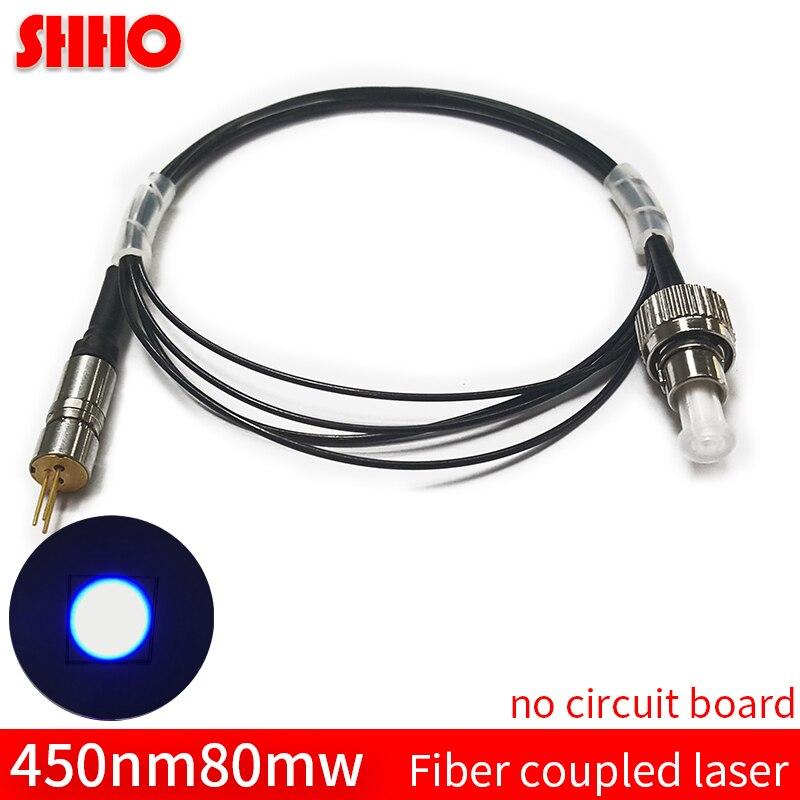 Haute qualité personnalisable 450nm 80 mw bleu fibre optique couplé laser couplage machine fibre laser couplage taux> 90%