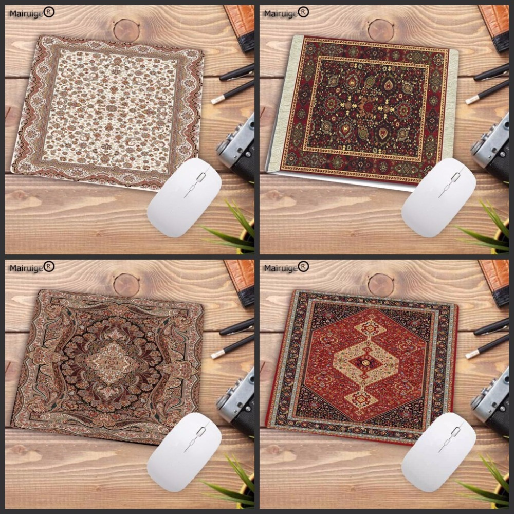 все цены на Mairuige Promotion 18*22CM mousepad Persian carpet style rubber anti-slip laptop computer game mouse pad for CSGO dota2 pad mat