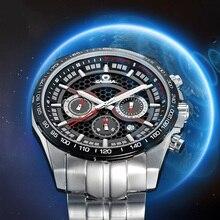 CASIMA luxury brand Fashion Solar Men's Watches MultiFunction Sport quartz Watch Stainless Steel Waterproof relogio masculino