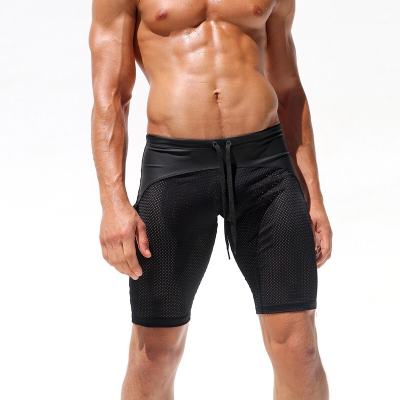 c4b1d24c6b Sexy Slim Fitted Men's Tight Beach Shorts,Summer Board Shorts,Skinny Mesh  Breathable Men's Low Waist Short Pants-in Board Shorts from Men's Clothing  on ...