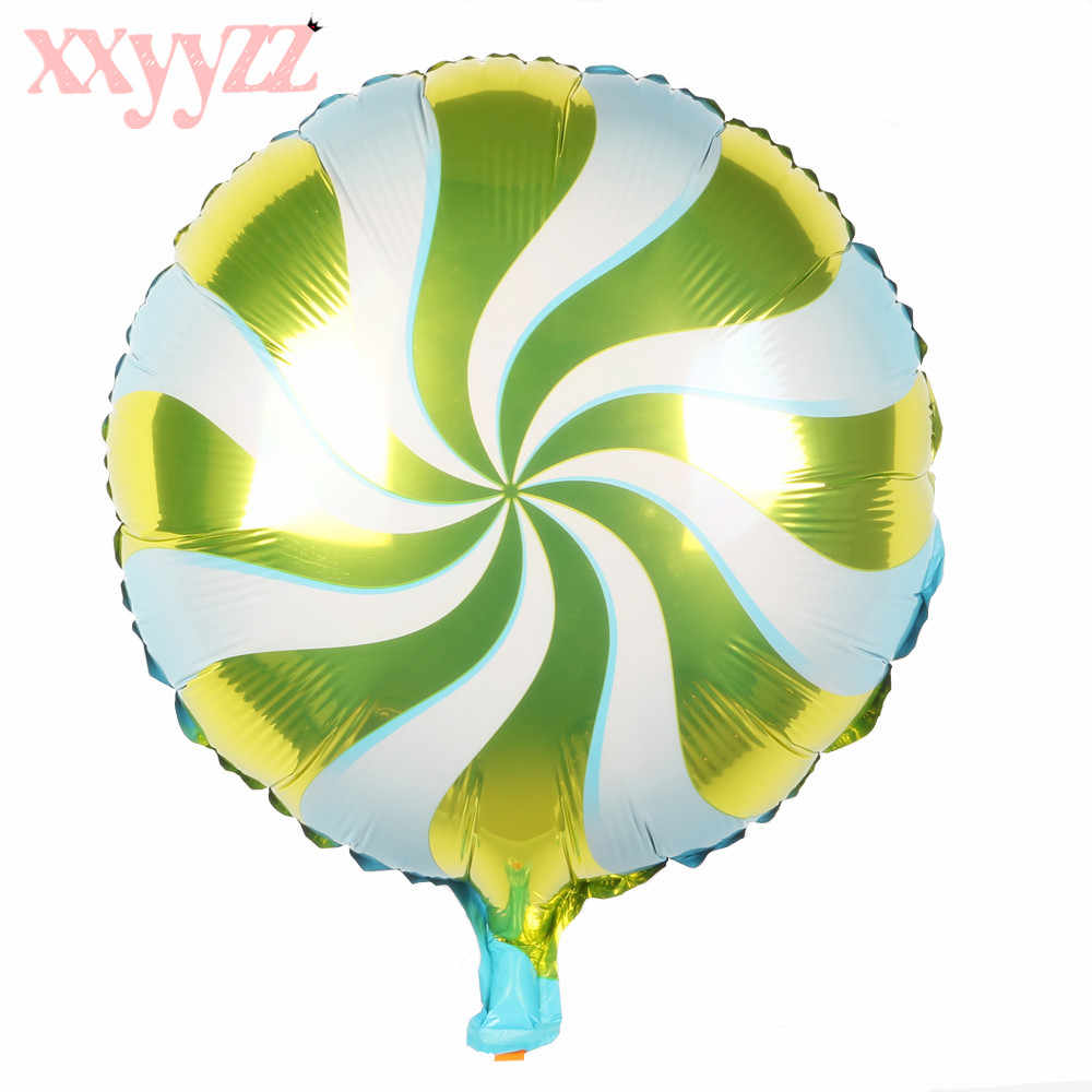 XXYYZZ 18 אינץ יום הולדת לב אוויר כדורי אלומיניום רדיד שמח מסיבת יום הולדת קישוטי ילדים בלוני הליום ספקי צד