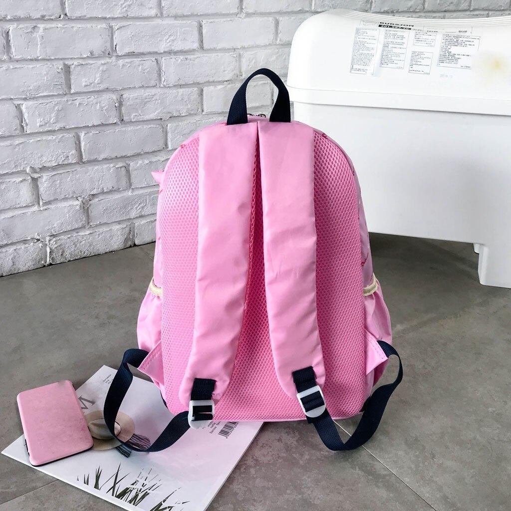 Women Bow Canvas Three-piece School Bag 28