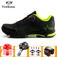 TIEBAO leisure cycling shoes SPD Pedals set men sneakers mountain bike self locking sapatilha ciclismo mtb bicycle riding shoes