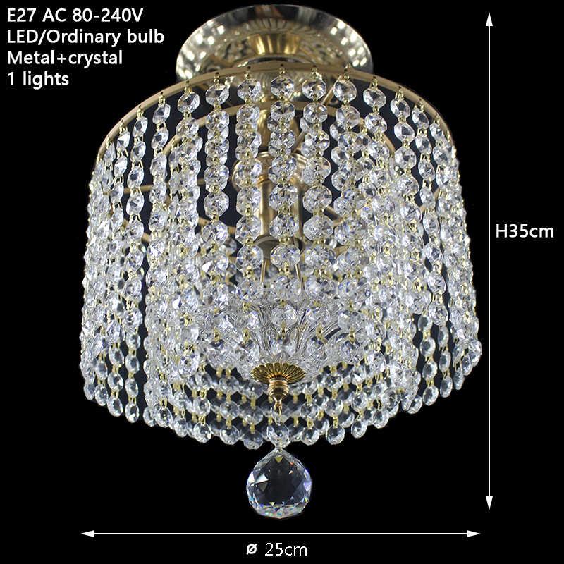 Современный золотой Королевский Хрустальный блеск потолочные светильники E27 винтажный арт-деко светодиодный потолочный светильник для гостиной спальни отеля